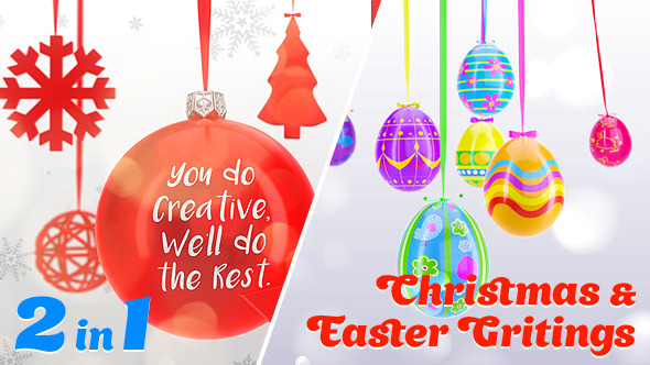 Pack Happy Easter & Christmas Greetings