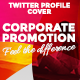 Twitter Profile Cover - Corporate Promotion