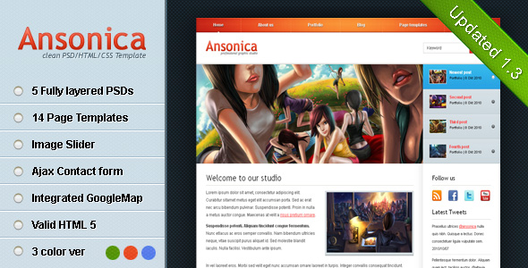Ansonica - Clean & Modern HTML Template