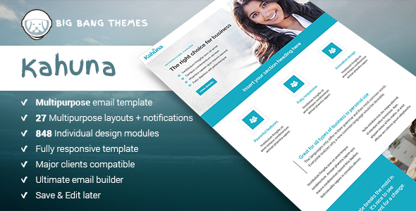 Download Kahuna - Giant Multipurpose Email + Builder Access nulled download