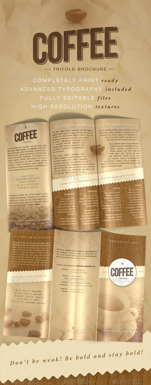 GraphicRiver Coffee Trifold Brochure 179312