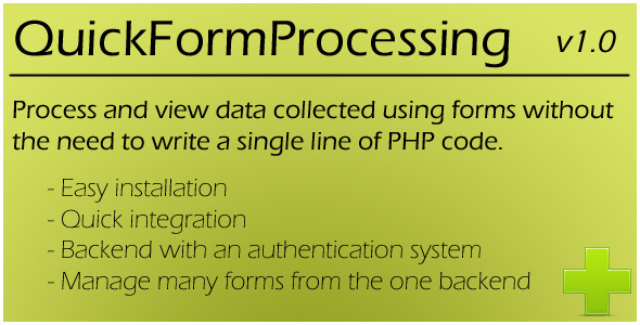 CodeCanyon Quick Form Processing 180367