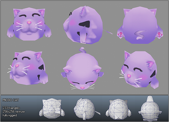 Low Poly Micro Cat Cloe - 3DOcean Item for Sale