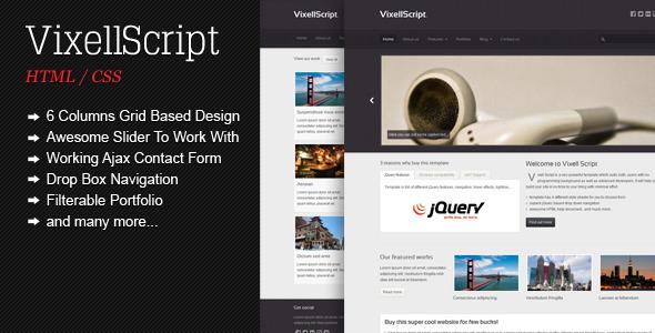 ThemeForest Vixell Script Business and portfolio template 1523827