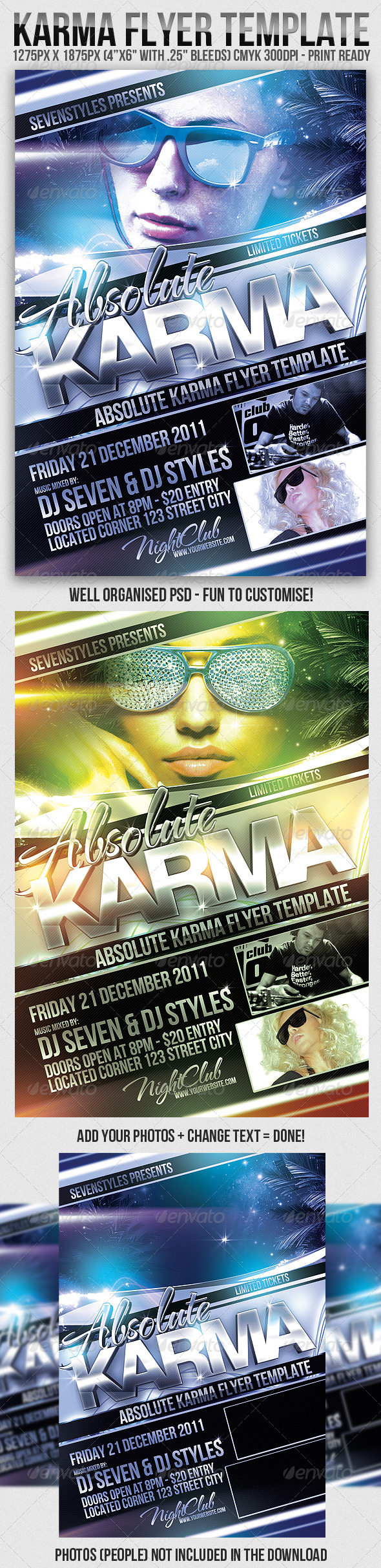 Karma Flyer Template - Clubs & Parties Events
