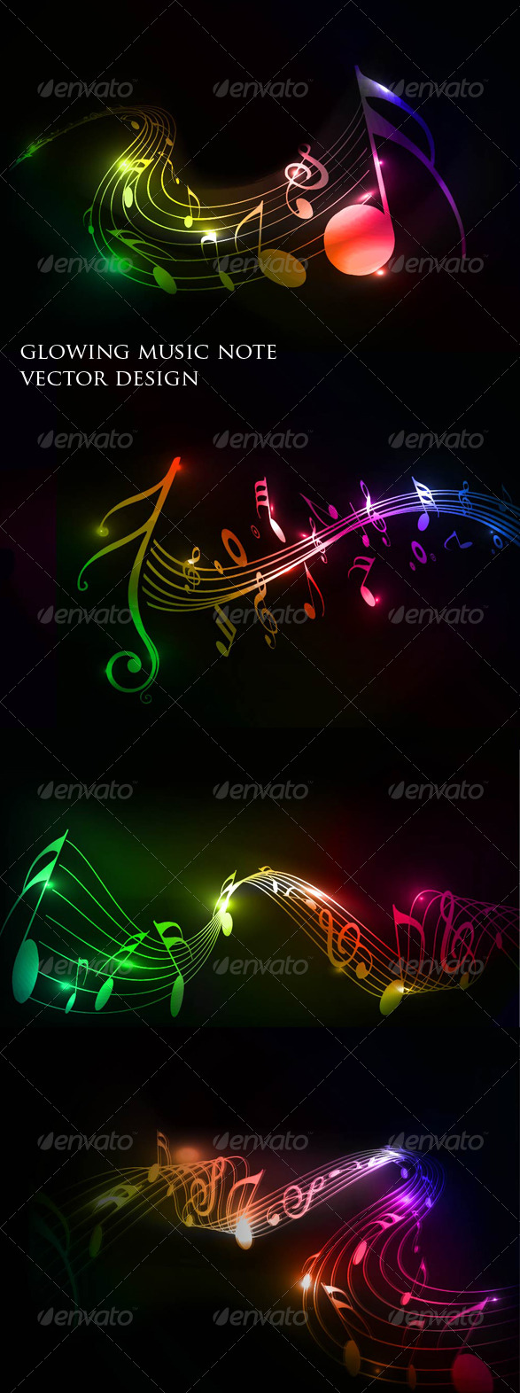 GraphicRiver Colorful Music Note 180413
