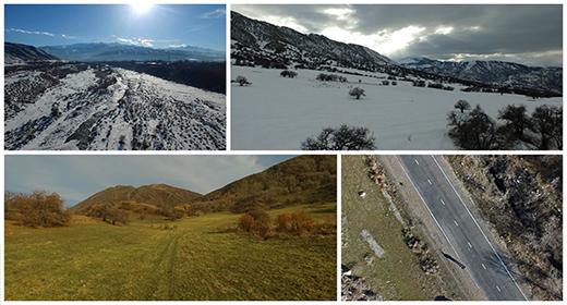 Aerial landscapes from Kazakhstan