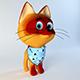 Kitten from cartoon 3D model