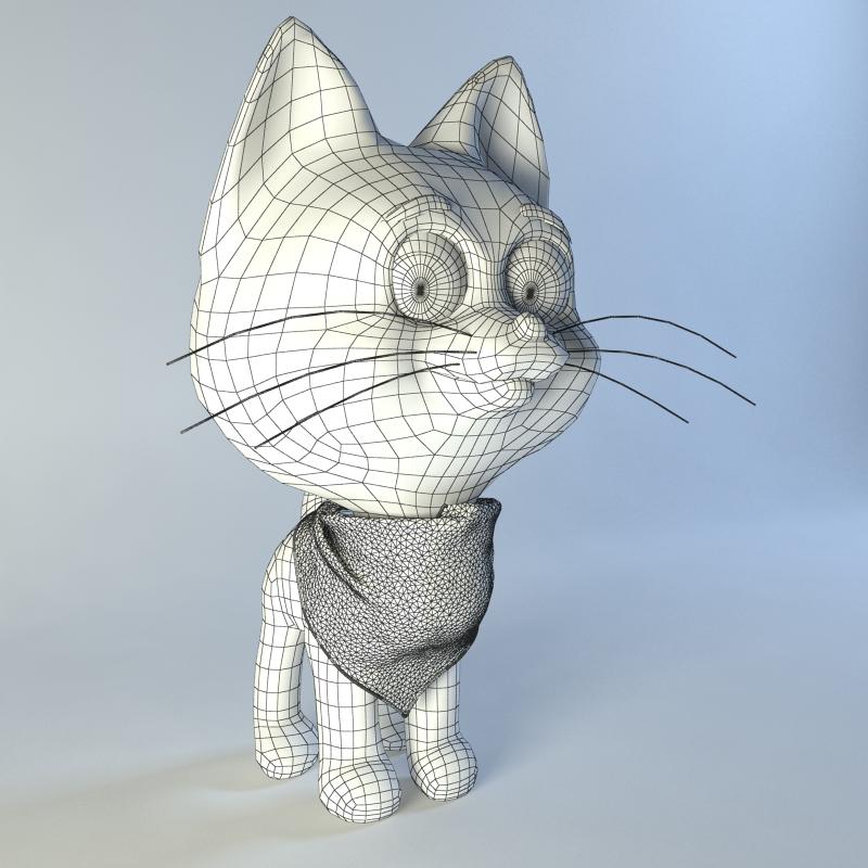 Kitten From Cartoon 3d Model By Artbox Studio 3docean