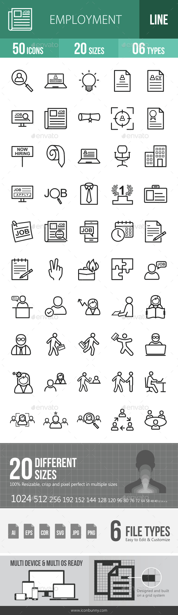 Employment Line Icons