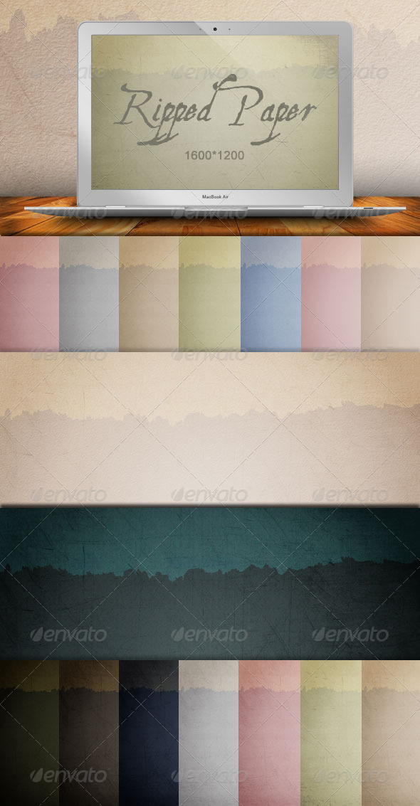 GraphicRiver Ripped Paper Backgrounds 180506