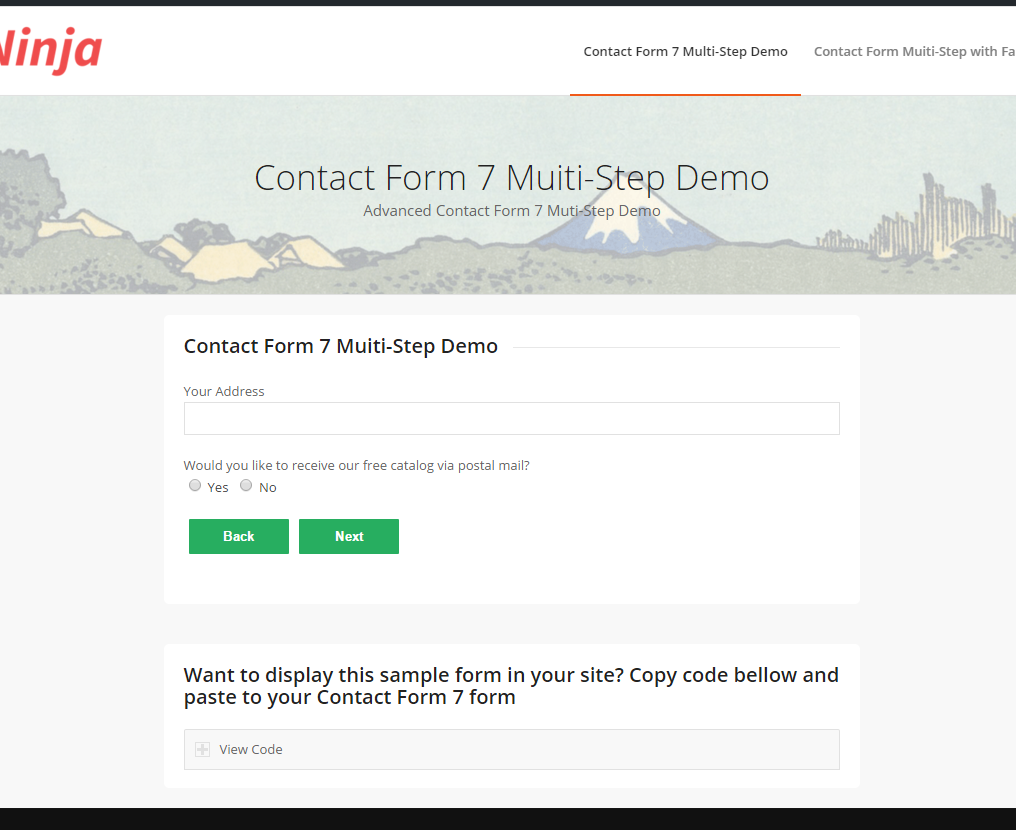 Contact Form 7 MultiStep by NinjaTeam – Contact Form