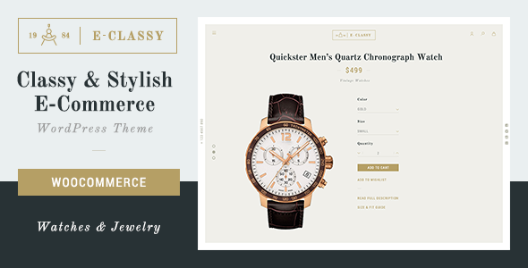 Download eClassy - eCommerce Classy Pro WordPress Theme nulled download
