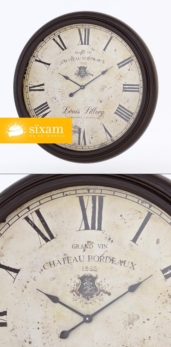 Vintage Kitchen Clock - 3DOcean Item for Sale