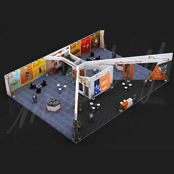 3DOcean Exhibition Booth 3D Model 15298318