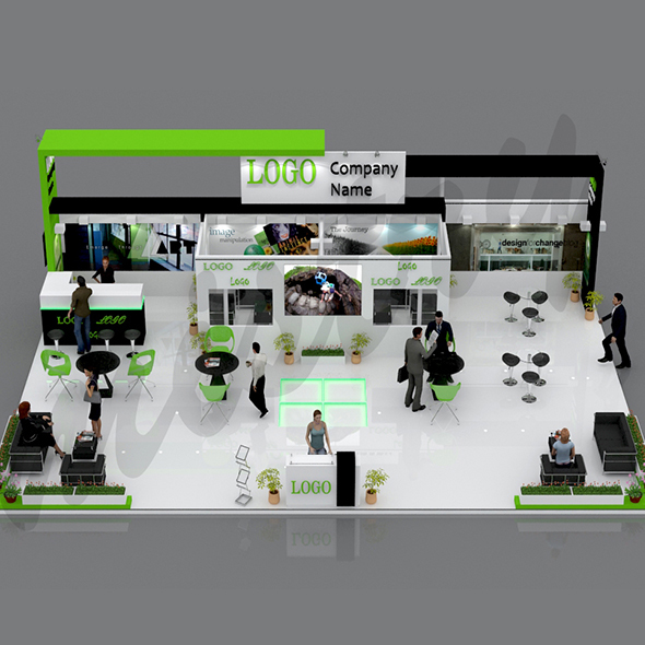 Exhibition Booth 3D Model - 3DOcean Item for Sale