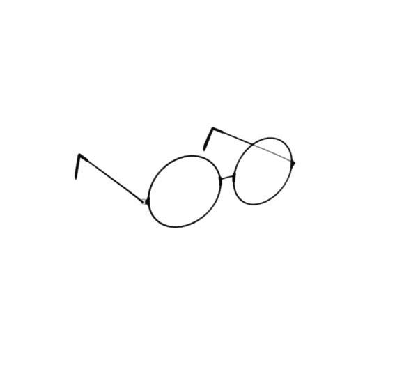 Low Poly Retro Glasses - 3DOcean Item for Sale