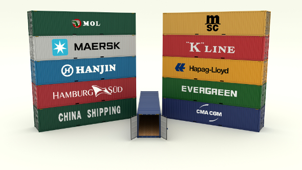 Shipping Container Collection - 3DOcean Item for Sale