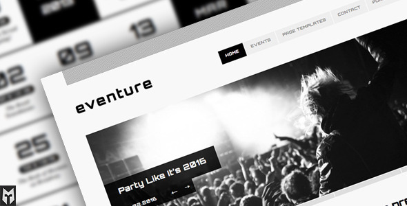 ThemeForest Eventure Responsive Events WP Theme 1529155