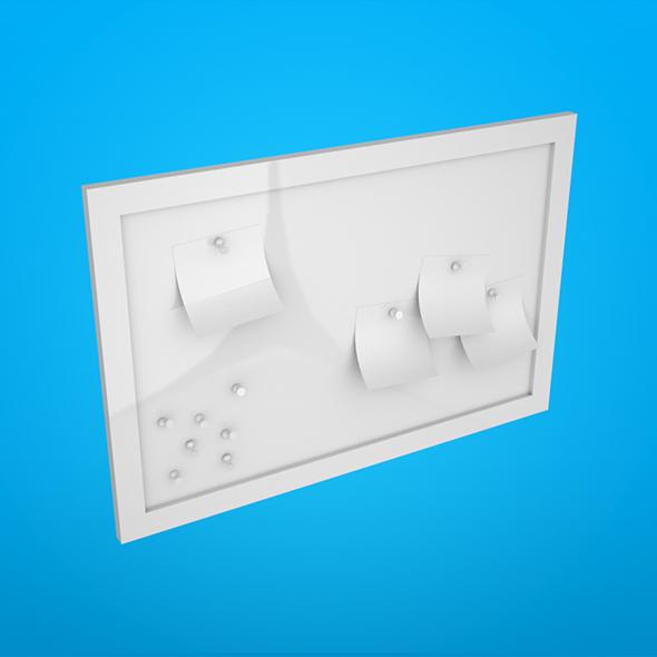 Corkboard - 3DOcean Item for Sale