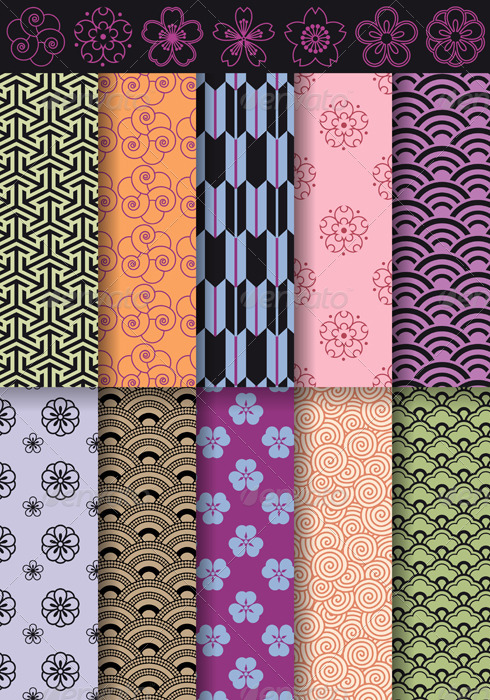 GraphicRiver Seamless Asian Patterns 1529409