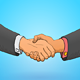 Handshake Illustration - GraphicRiver Item for Sale