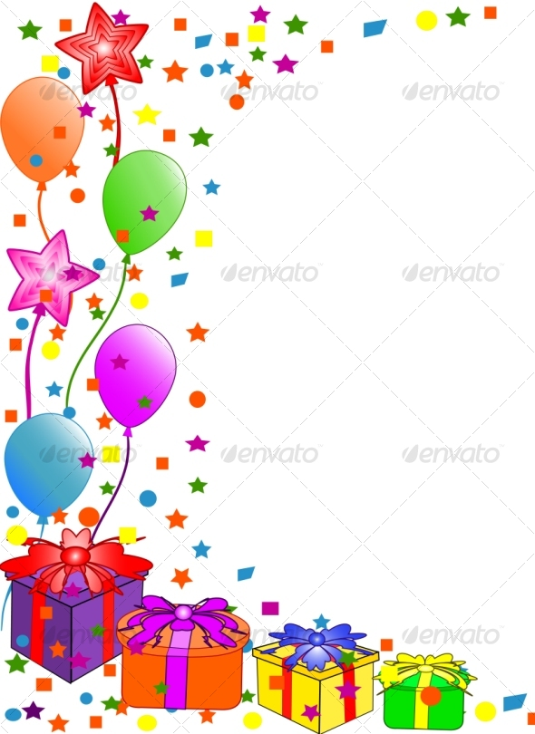 Graphic River Happy Birthday background Vectors -  Conceptual  Seasons/Holidays  Birthdays 60277