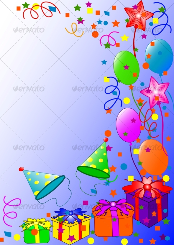 Graphic River Happy Birthday background Vectors -  Conceptual  Seasons/Holidays  Birthdays 60279