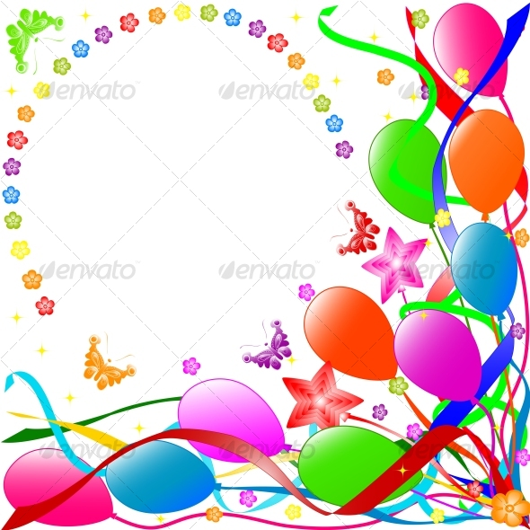 Graphic River Happy Birthday background Vectors -  Conceptual  Seasons/Holidays  Birthdays 60280