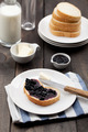 Jam Sandwich on Breakfast Table - PhotoDune Item for Sale