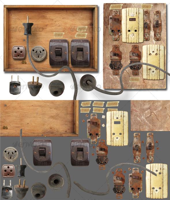 Antique electricity panel kit
