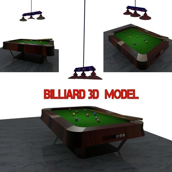 BILLIARD - 3DOcean Item for Sale