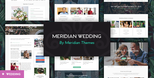 4 - Meridian Wedding - Wedding WordPress Theme