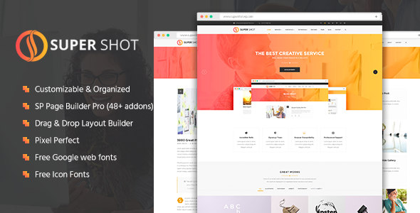 SuperShot - Creative Multi-Purpose Joomla Template