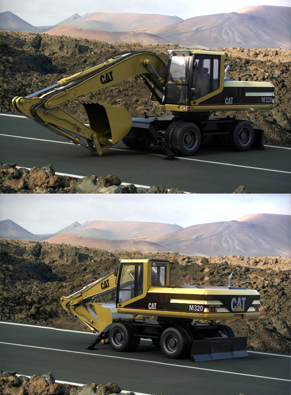 Caterpillar M320 - 3DOcean Item for Sale