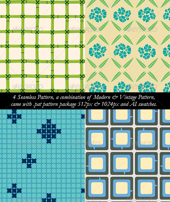 GraphicRiver 4 Seamless Pattern A 180059