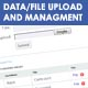 Data/File upload and management