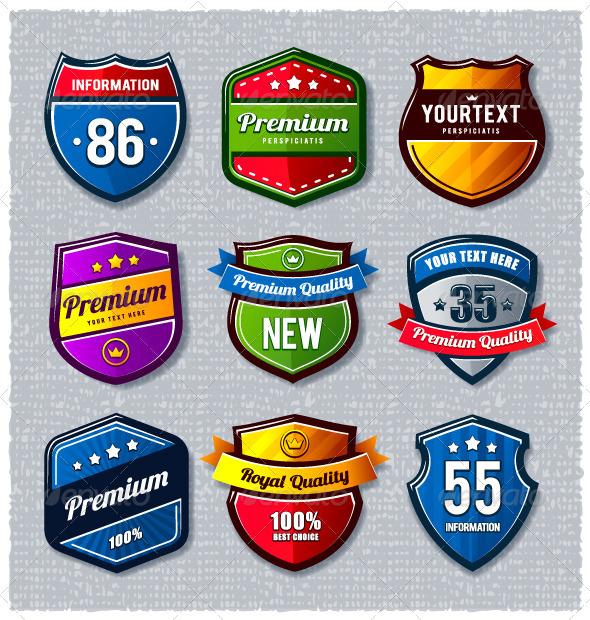 Vector set of retro badges - Vectors