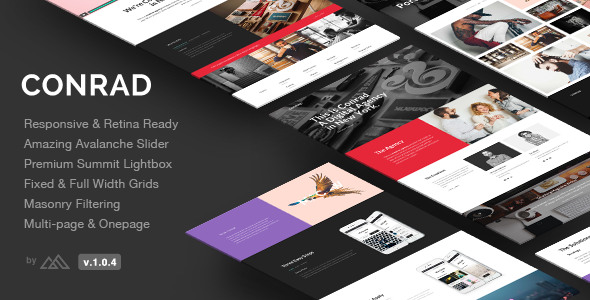 17. Conrad - Creative Multi-Purpose HTML Template