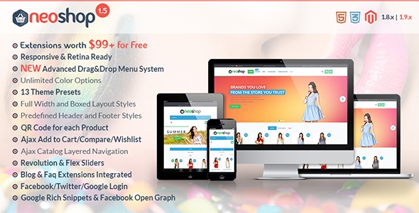 Download Neoshop - Responsive & Retina Ready Magento Theme nulled download