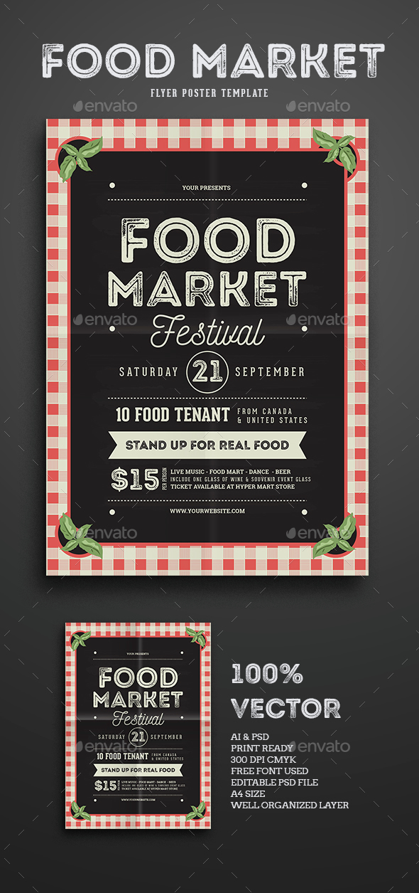 Food Market Flyer template