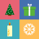 Vector Flat Christmas Icons