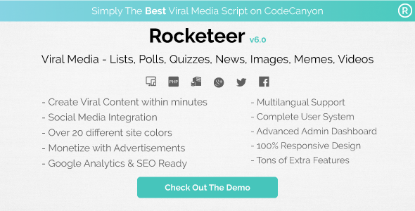 Download Rocketeer - Viral Media Lists, Polls, Quizzes, News, and Videos nulled download