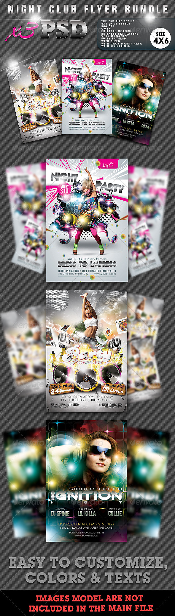 Night Club Flyer Bundle #02 - Clubs & Parties Events