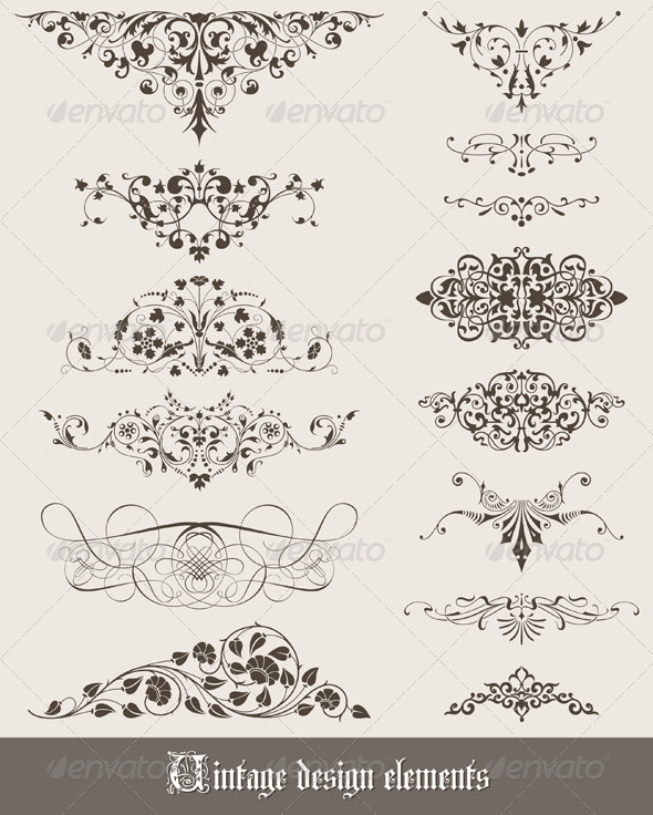 GraphicRiver Vintage Design Elements 1530695