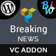 Breaking News Addon For Visual Composer