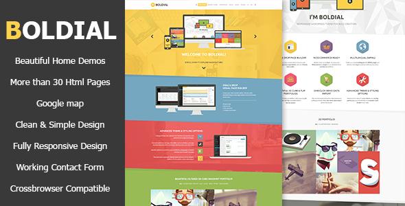 Boldial HTML - Flat Creative Theme
