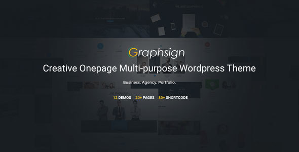 8 - Graphsign - Creative One Page Multi-Purpose WP Theme