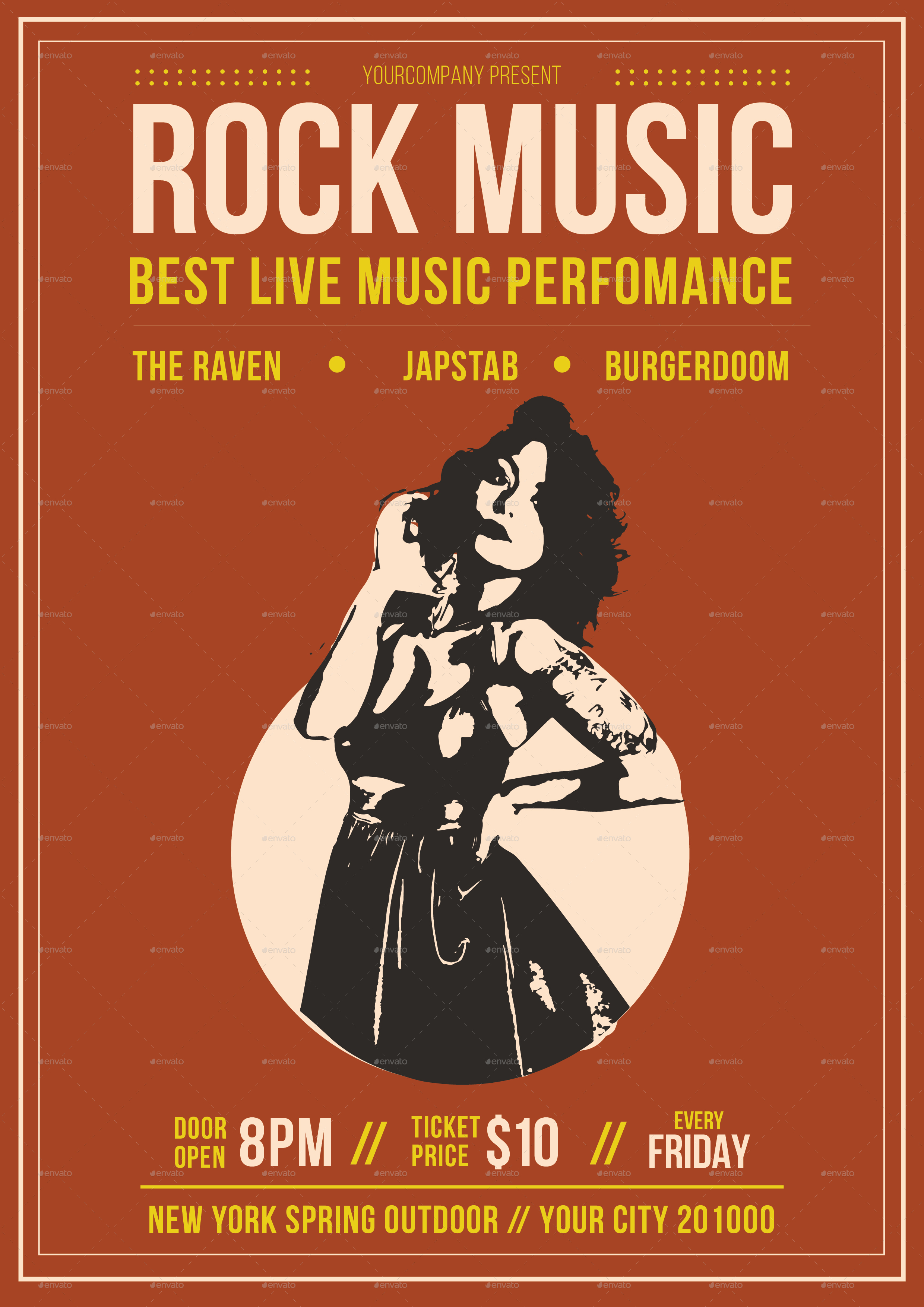 Rock Music Flyer by tokosatsu – Music Flyer