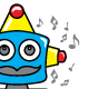 Robot Music Funny T-shirt Design